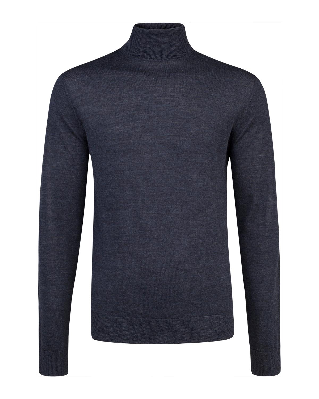 d116d4e4505675 WE Fashion  Heren merino wol col-neck trui - Vandaag bestellen ...